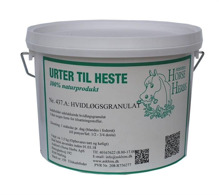 Hvidløgsgranulat, Hest, 1,5 kg - Askhim's Horse Herbs, Urter til heste og hunde
